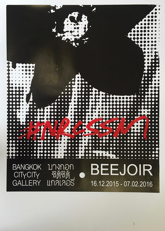 beejoir nrcssm print black red white
